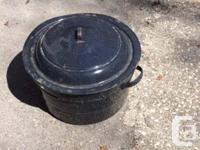 Vintage galvanized water pail $15 24 inch tool box