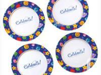 Festive dessert plates. Porcelin, microwave as well as
