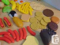 Play Family Kitchen 90 Pc Play Food PRICES ARE FIRM