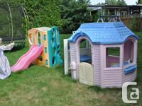 """Cute """"Little Tikes"""" playhouse for sale. One side opens"""