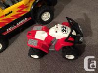 Used Playmobil pickup truck with action Quad, plus a