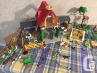 Playmobil Farm house, Forest Ranger, Garden and Well,