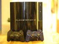 Playstation 3, 2 controllers, 9 games. 300 gb model.