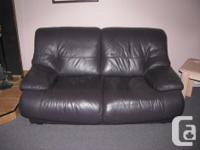 I have a genuine plumb leather sofa and love seat. They