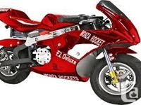 Finally the 49cc Gas powered pocket bike is back and we