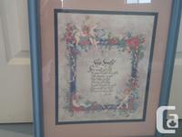 """NEW Poem frame """"SLEEP SWEETLY"""" by Ken Brown from """"Home"""
