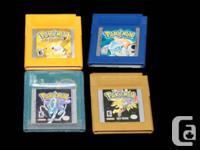 Dealer #: 26694. Pokemon Blue - $25. Pokemon Yellow -