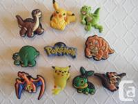 Set of 10 Pokemon & Land Before Time Shoe Charms &