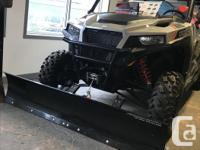 "Polaris Ranger 72"" plow blade and mount set up. Will"