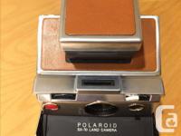 Classic chrome SX-70. Original leather. Great shape.
