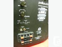 Polk Audio 8 inch powered home subwoofer, model