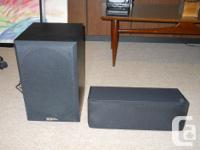 Polk Audio Sound System, 5 speakers, 2 Stands and