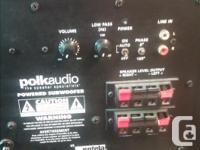 PolkAudio Powered Subwoofer. Specs: