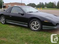 Make Pontiac Model Fiero Colour Black Trans Automatic