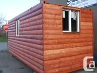 "Introducing ""Poor Boy Log Sheds & Cabins"".  ** Shed"