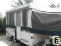 Can sleep up to 7, has a front queen bed, rear double