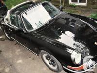 porsche 911 targa 1970 couleur noir extérieur et cuir