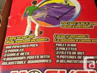 I have a Hot Shot Sports portable air hockey game that