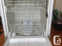 I have a white portable dishwasher that won't fit in