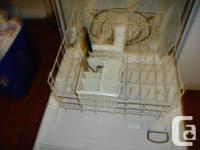 White Maytag portable dishwasher, runs quiet, dropoff