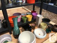Lots of pots, indoor and outdoor, for sale at the St.