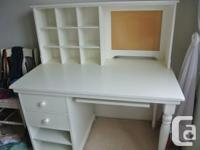 Selling White Pottery Barn Desk- Good Condition 2