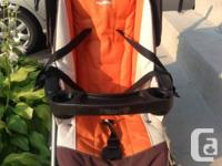 Orange Peg Perego Pliko P3 Stroller in excellent