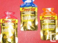 Power Gel energy packets mixture of Vanilla, Tangerine