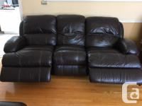 REDUCED to $500. Brown (walnut) bonded leather