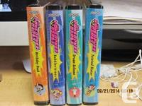 A collection of Powerpuff Girls adventures on vhs. The