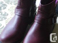 Pair 'Sklecher's' Boots, says size 8.5, wine,