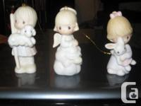 I have three Precious Moments Figurines that I received
