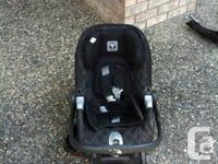 PregPerego car seat. Black and grey.  Email or call