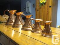 Collection of 5 graduated ONE HUNDRED year old antique
