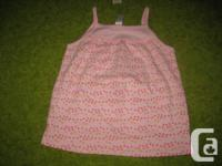 Old Navy pink with hearts smock top - 5T Girls - NWT