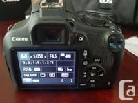 For sale is a Canon T5 interchangeable lens camera + 2