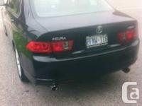 6 speed manual transmission Acura TSX 2007, Black on