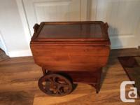 Beautiful antique Tea Wagon with original finish. Both
