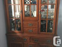 Complete set of dinner table with 6 chairs and 2 pieces