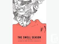 Swell Season with Doveman screen printed poster.