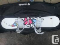 I am marketing my USED ONCE Firefly Snowboard! Includes