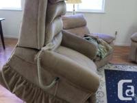 New condition, gold and brown upholstery. Used for 6