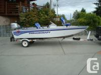 Princecraft 162 Pro series 16' aluminum boat package.