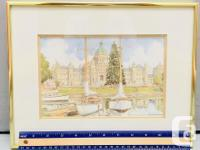 Print of the BC Parliament Buildings and Harbor by