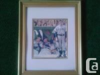 "Norman Rockwell baseball motif framed print ""The"