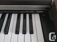 The Casio PX-700 Privia Digital Piano is designed to