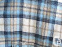 Pro Cam-Fis Pale Blue/White Plaid Flannel Shirt -