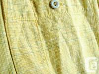 Pro Cam-Fis - Yellow Plaid Short Sleeve Shirt - button