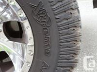Selling my set of 4 used mud terrain tires (rims not