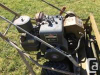 5 hp Briggs self drive chain operation reel style